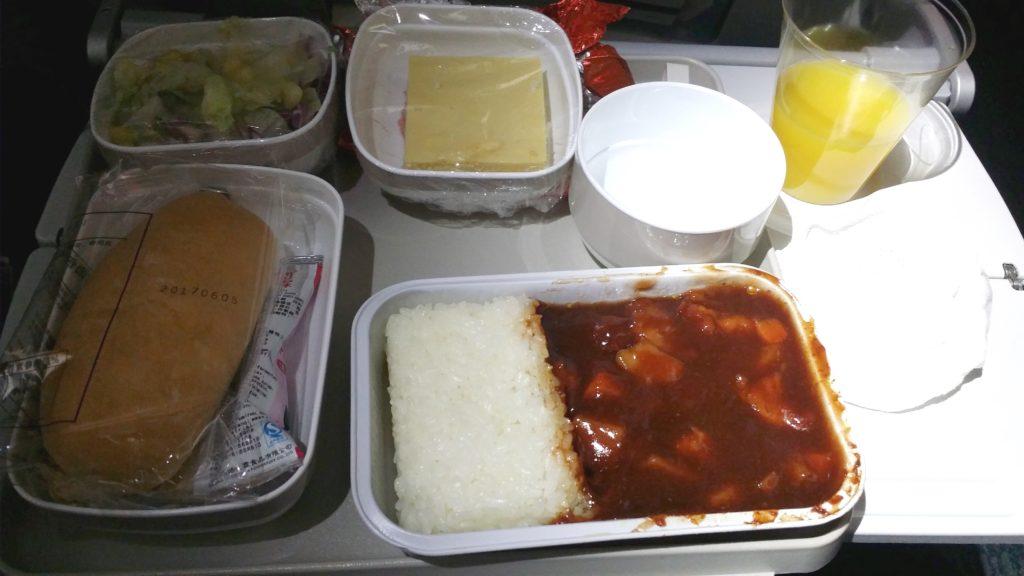 エアチャイナ機内食3