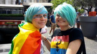 Roma Pride パレードのカップル