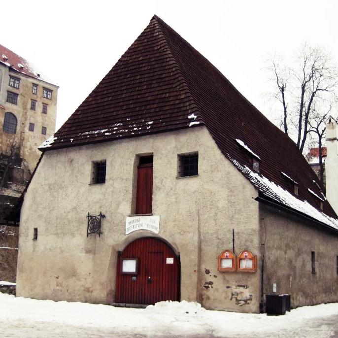チェスキー・クルムロフの顔みたいな家