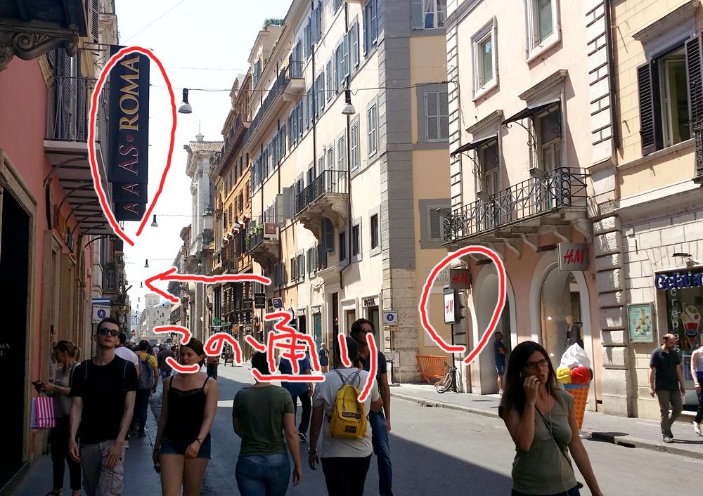ローマの漫画ショップの行き方