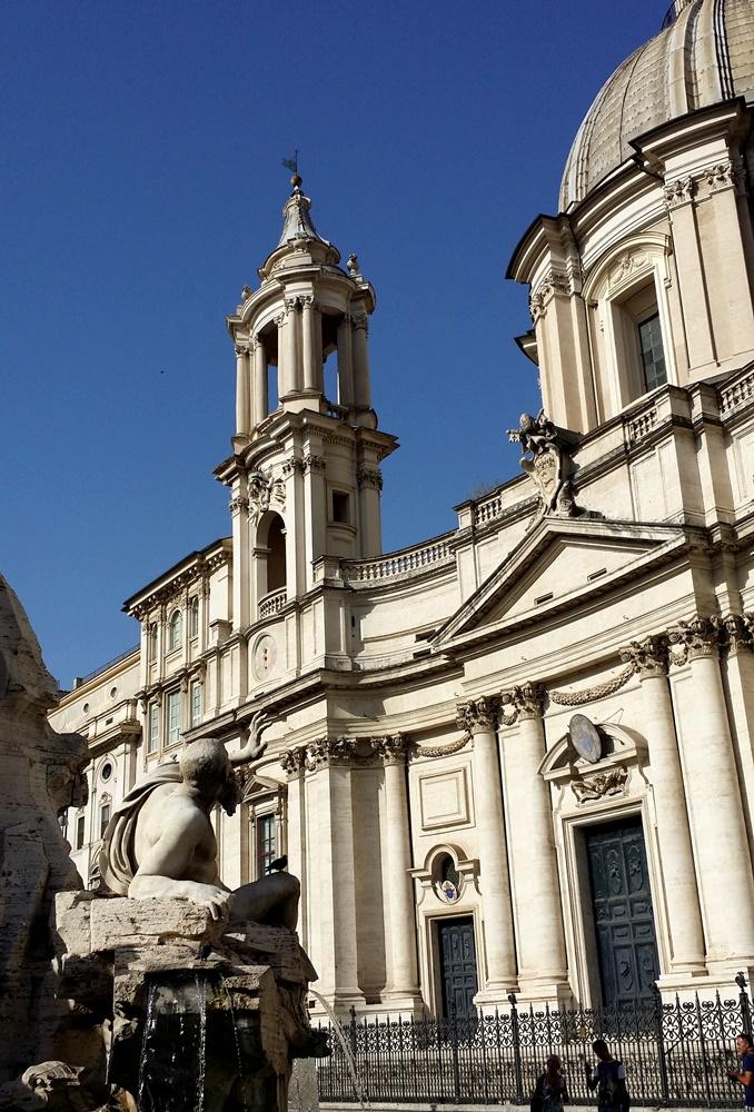 ナヴォーナ広場のベルニーニの彫刻