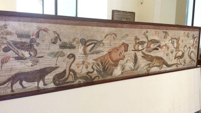 ナポリ考古学博物館のモザイク