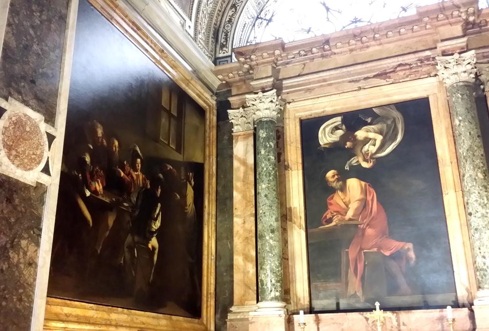 「聖マタイの召し出し」「聖マタイと天使」