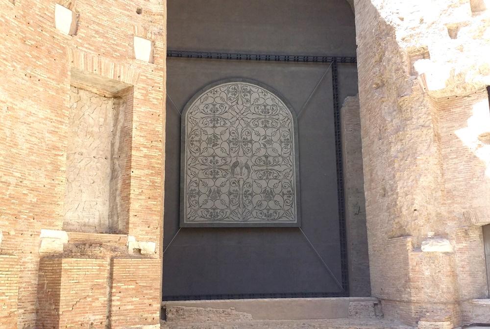 ディオクレティアヌス浴場跡のモザイク