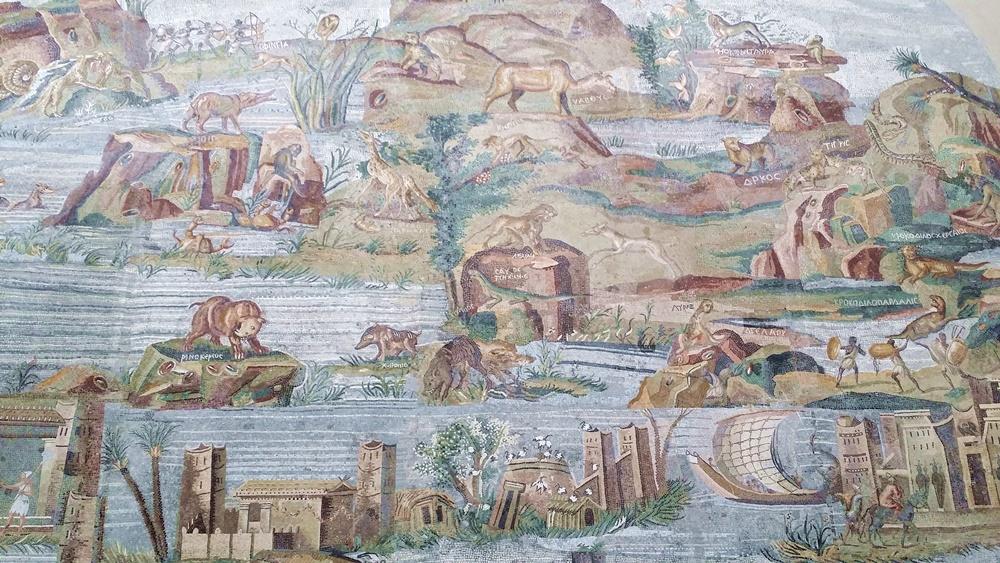 ナイル川のモザイク