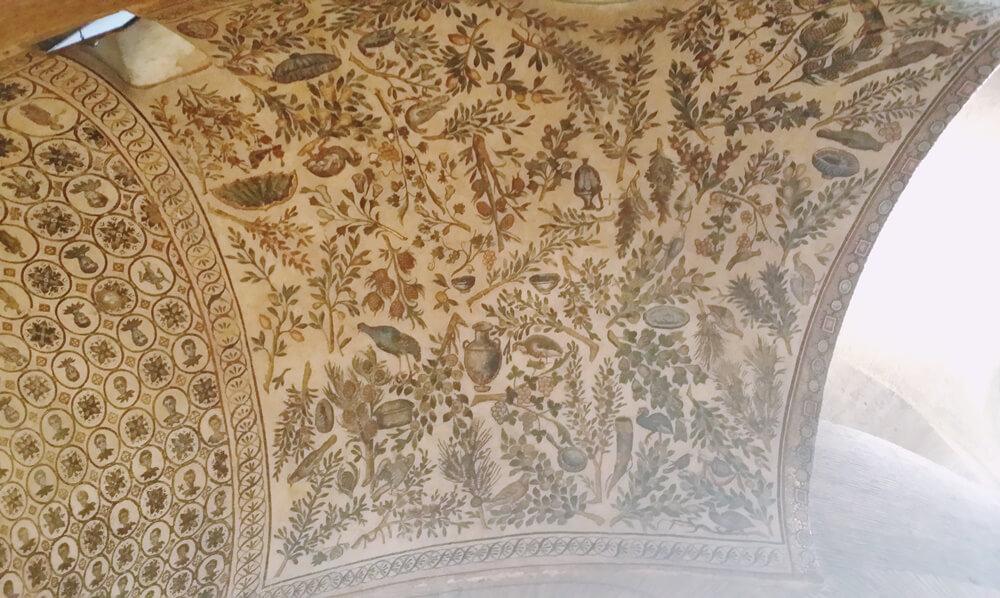 サンタ・コスタンツァ教会モザイクの天井