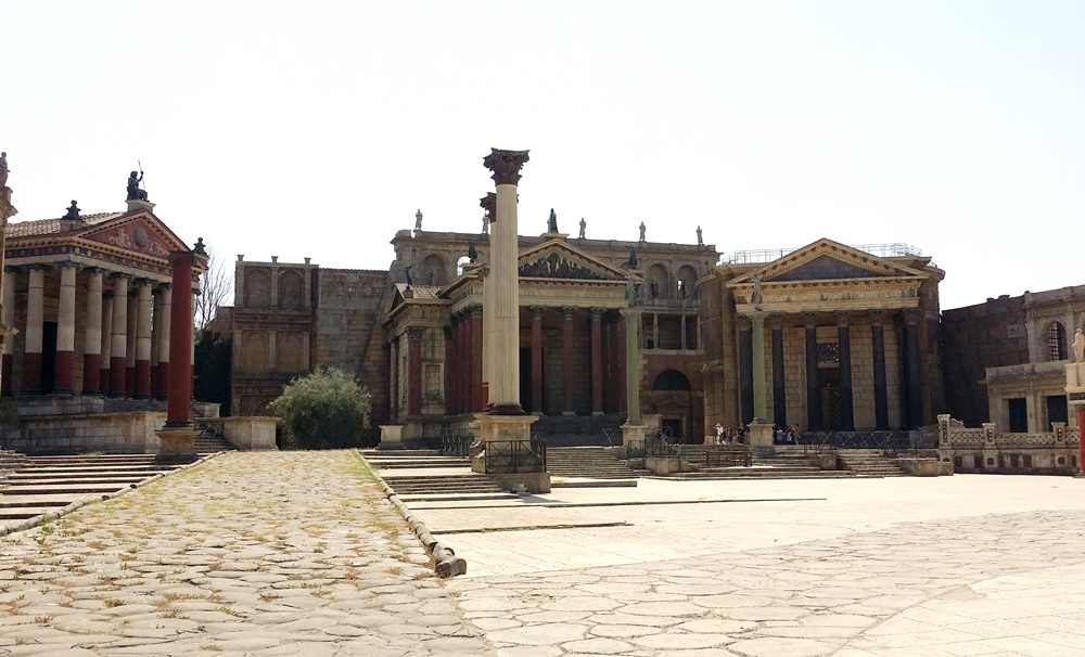 古代ローマの撮影セット