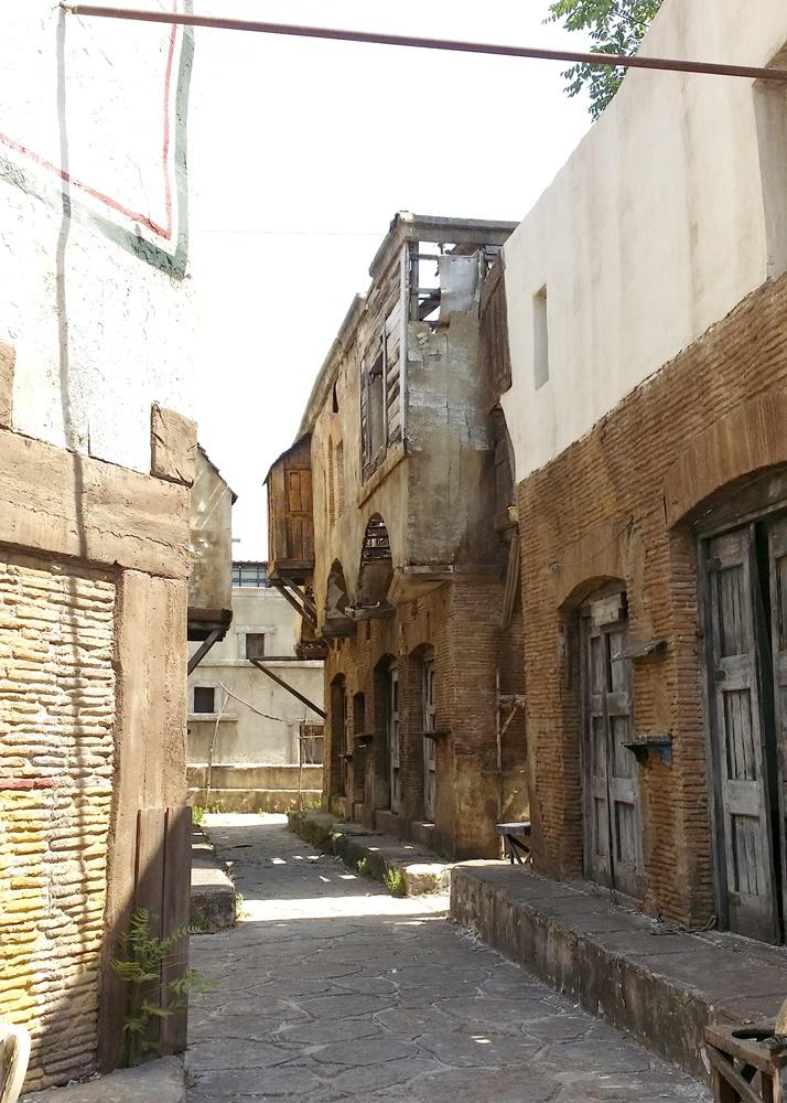 古代ローマの路地裏のセット