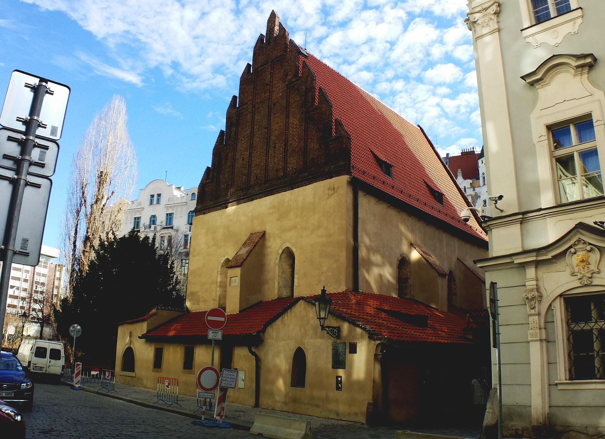 プラハ旧新シナゴーグの外観