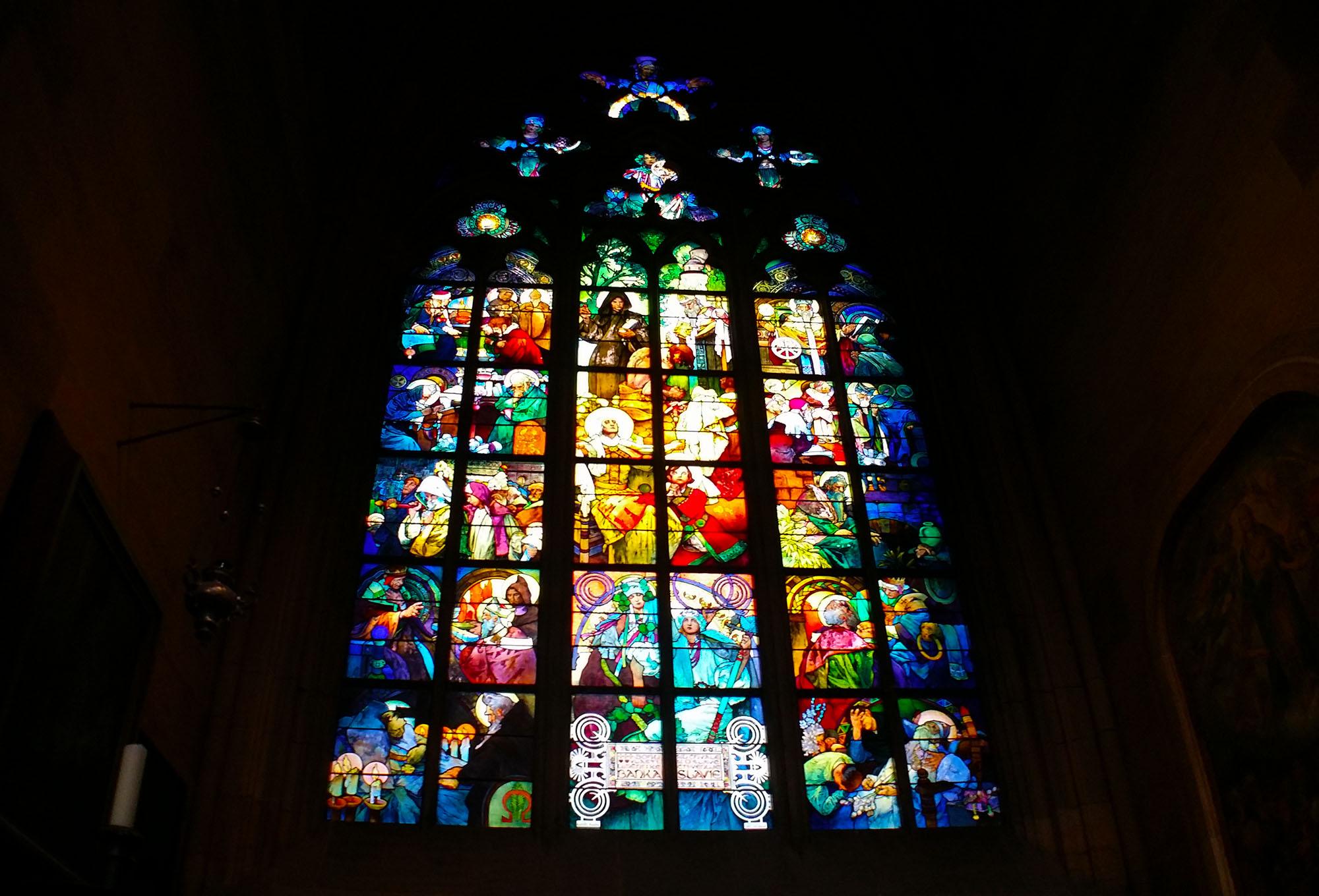 聖ヴィート大聖堂ステンドグラス