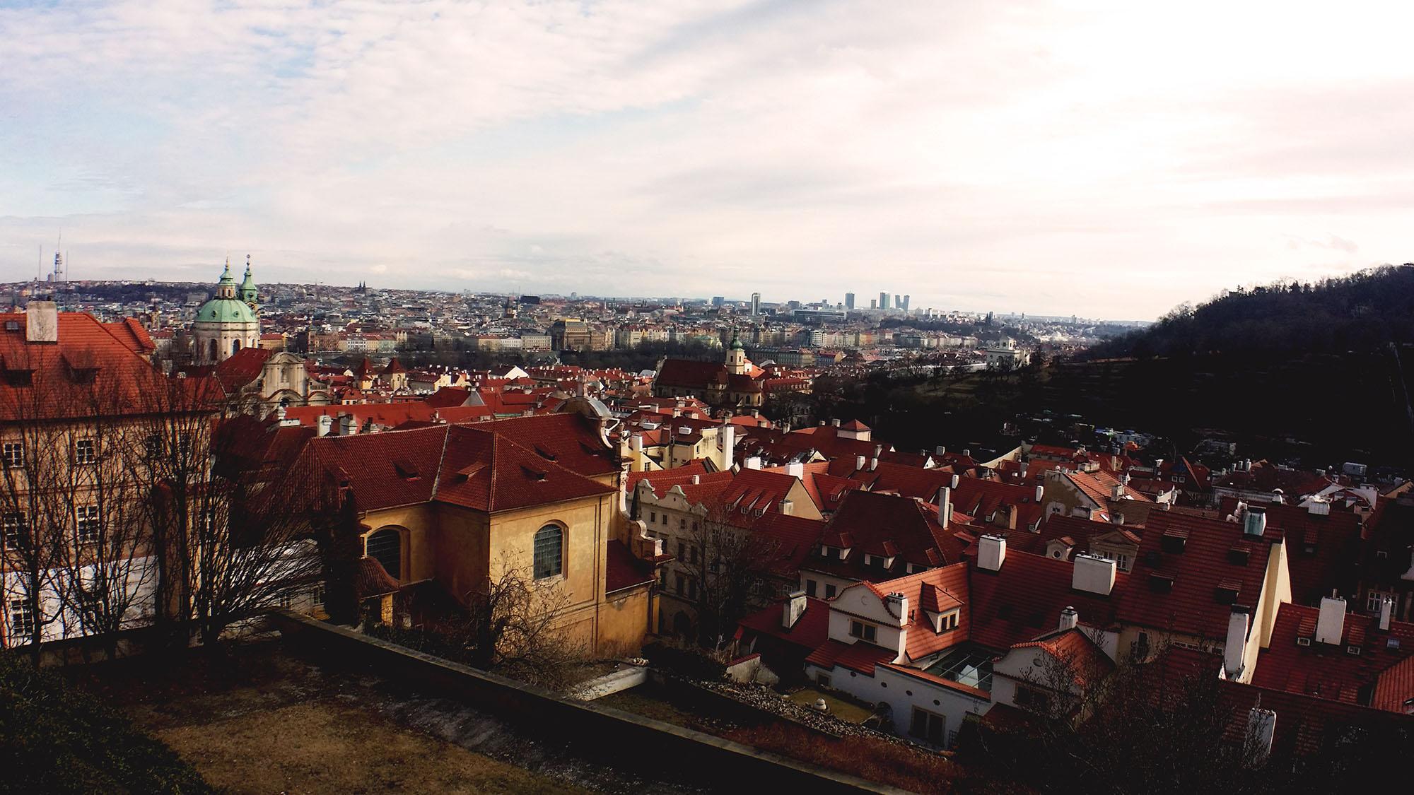 プラハ城からの景色