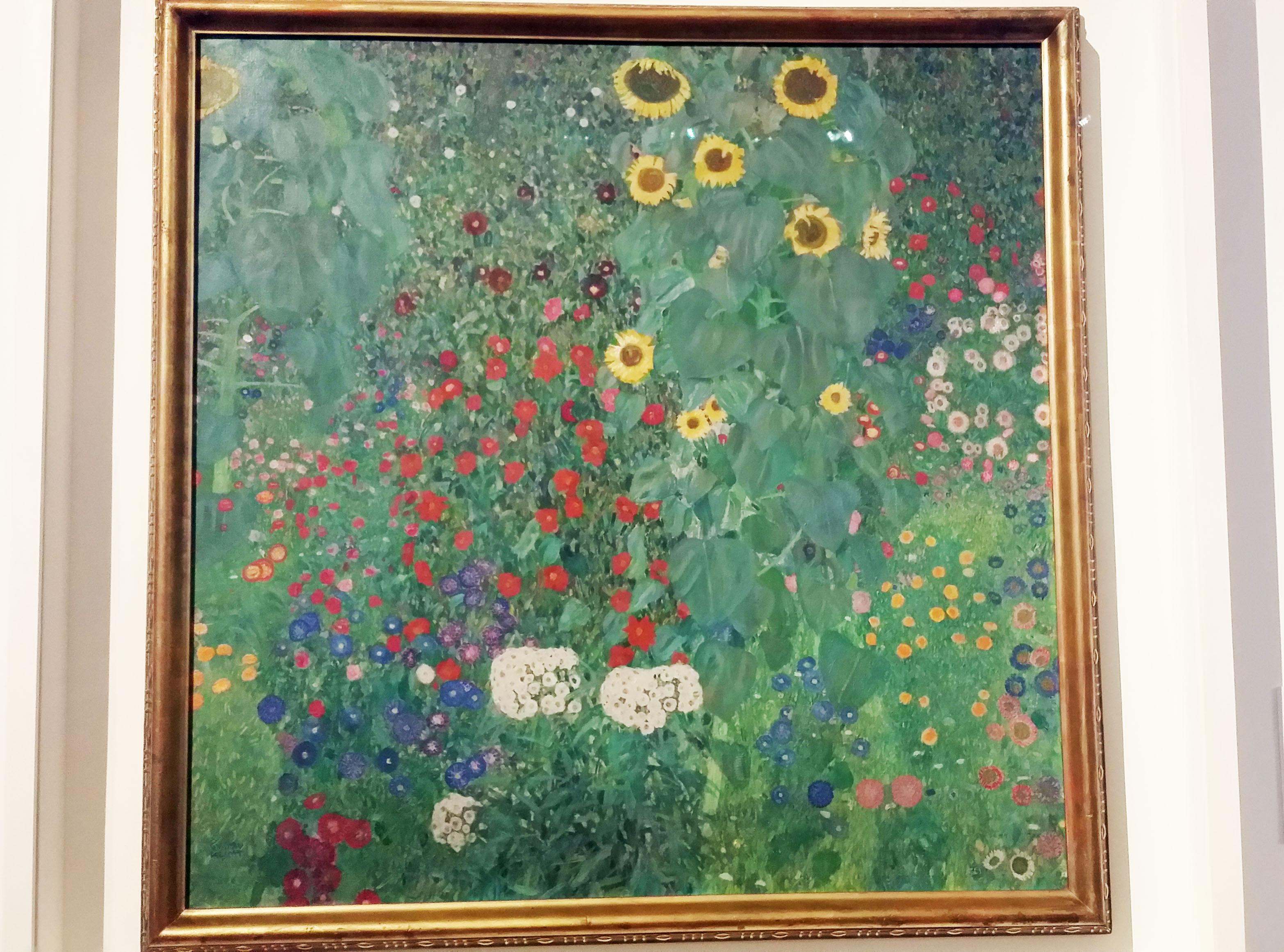 クリムト「ひまわりの咲く庭」