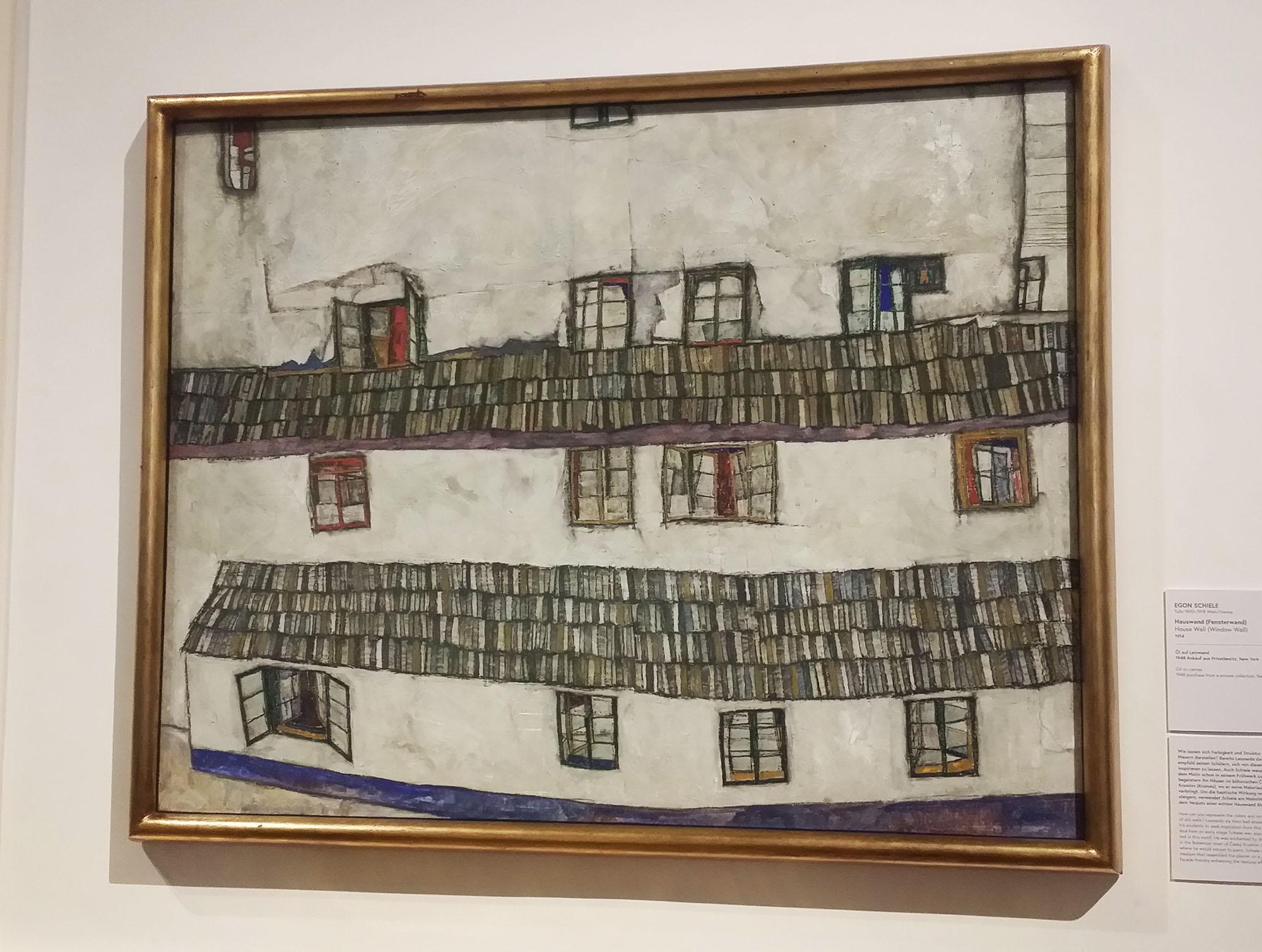エゴン・シーレ作「Old Houses」