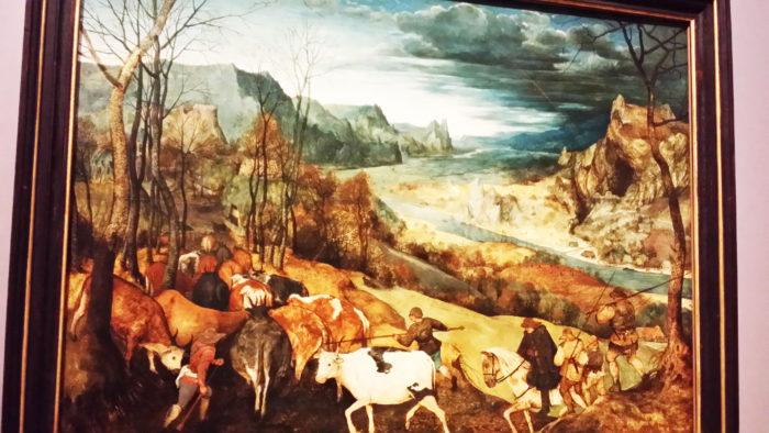 ピーテル・ブリューゲル「牛群の帰り」