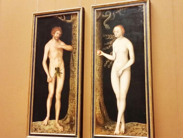 クラーナハの「アダムとイブ」