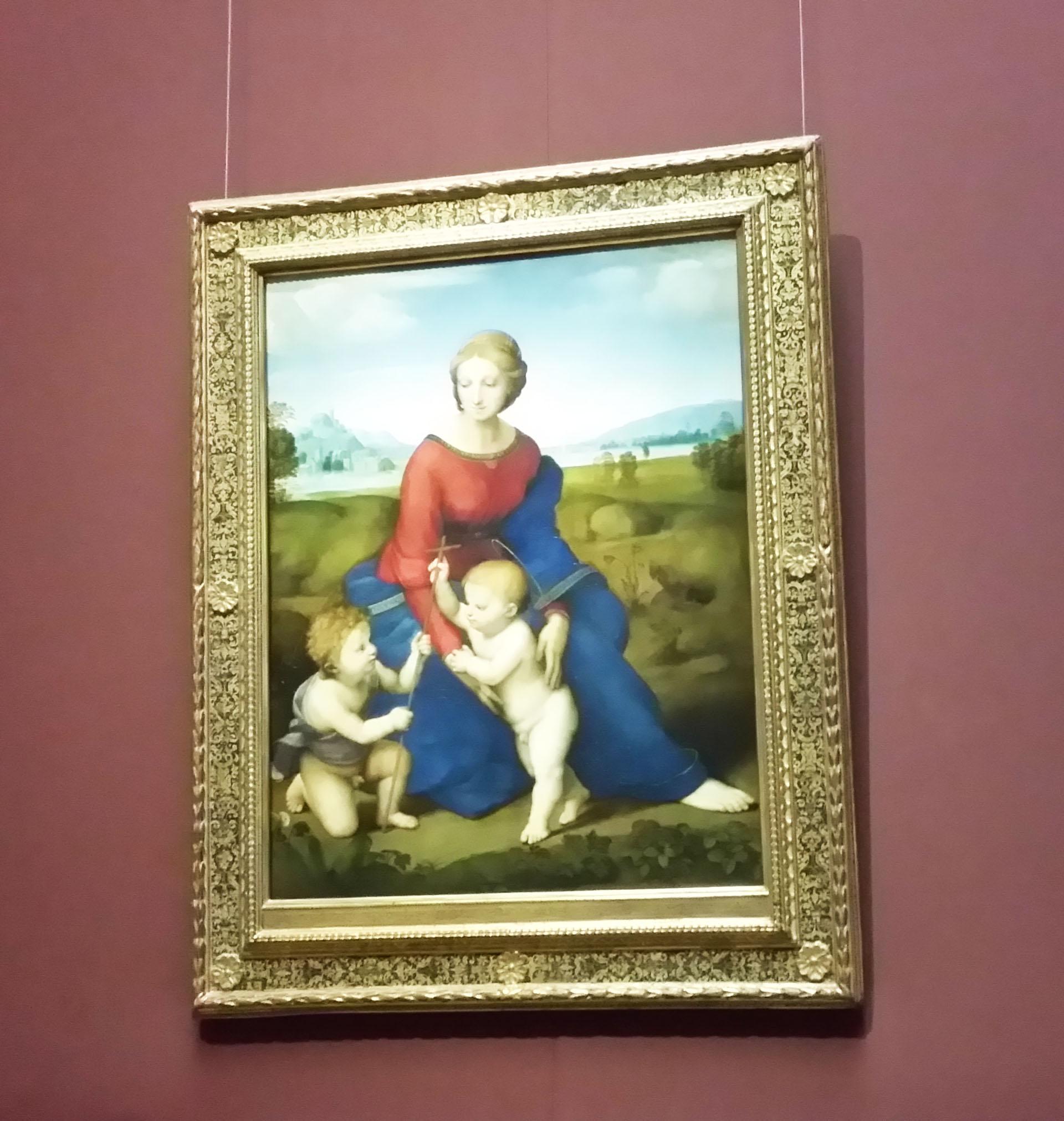 ラファエロ作「緑野の聖母子」