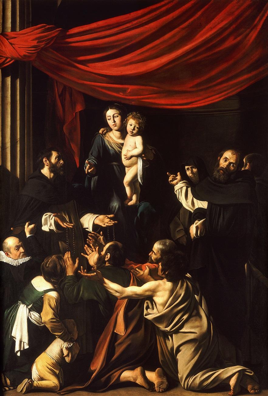 カラヴァッジョ「ロザリオの聖母」