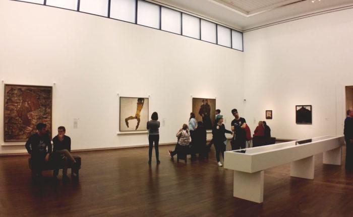 レオポルド美術館のエゴン・シーレのフロア